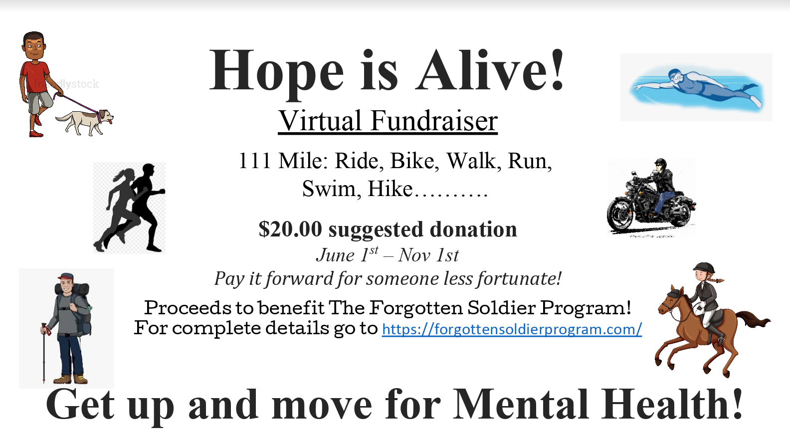 hope is alive virtual fundraiser for forgotten soldier program